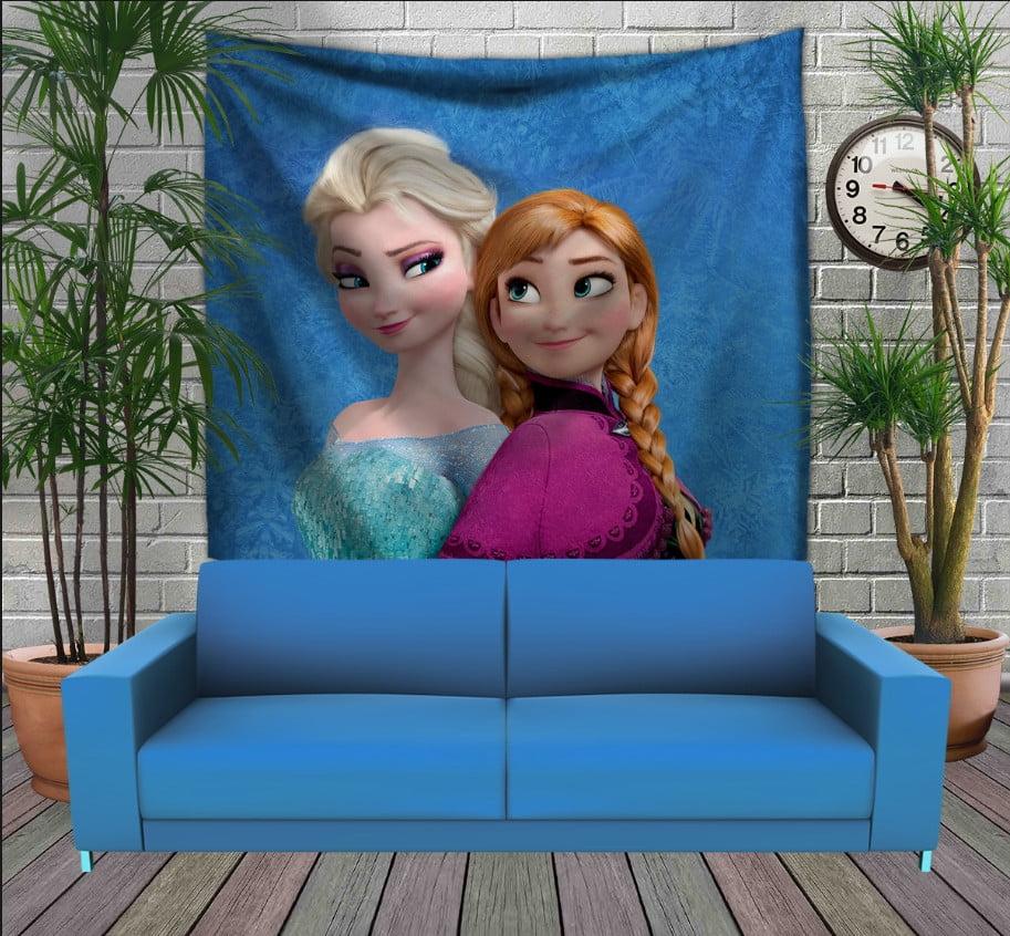 Панно з 3D з принтом  Frozen Анна і Ельза