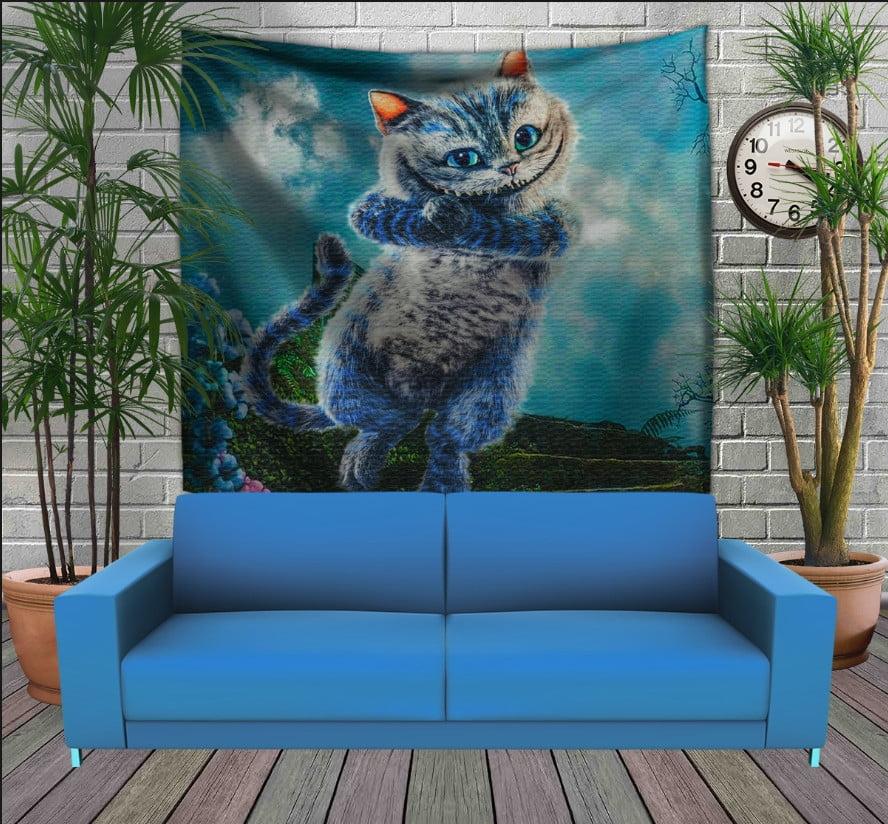 Панно з 3D з принтом  Чеширський Кіт Чарівник