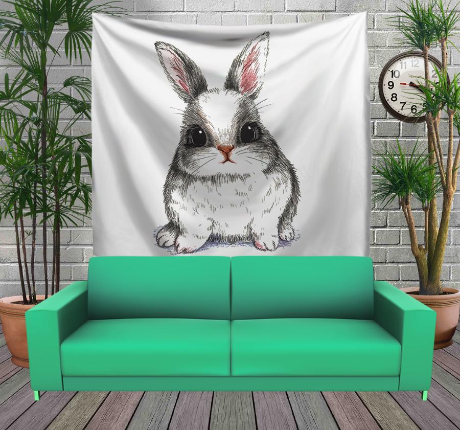 Панно з 3D з принтом - Іди за білим кроликом