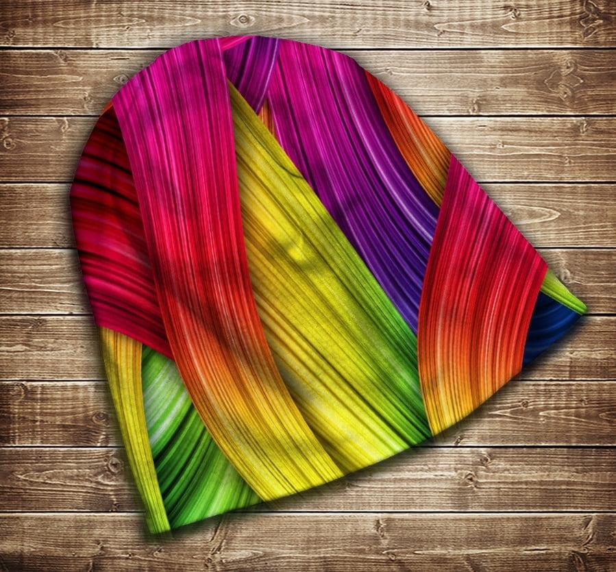Шапка з 3D принтом -  rainbow color Всі розміри