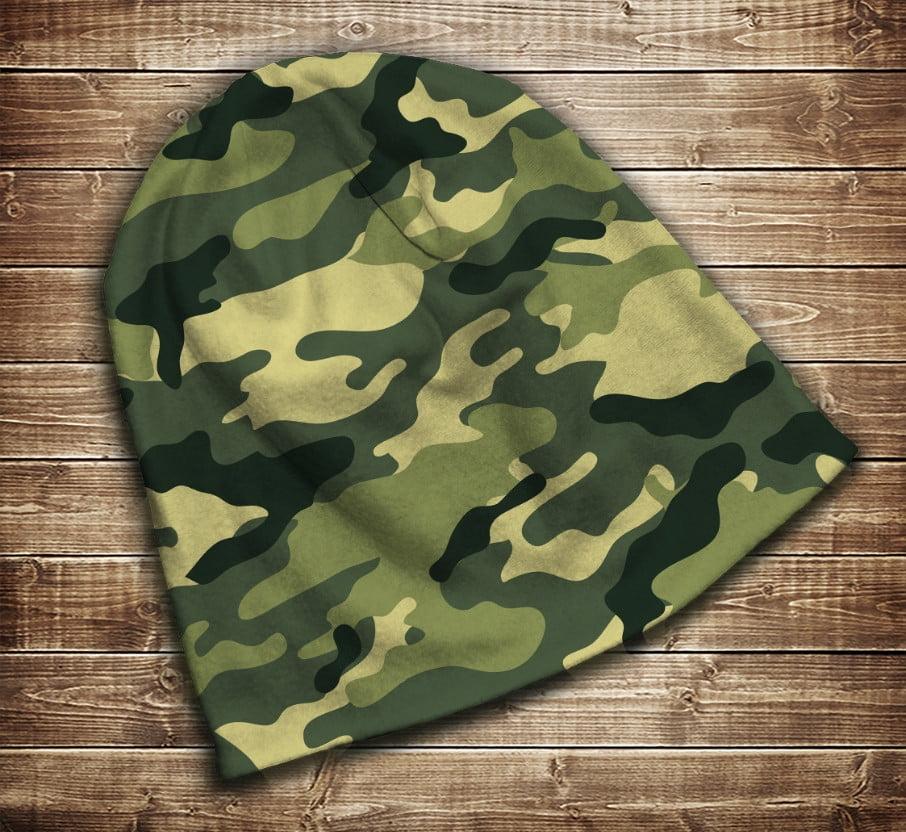 Шапка з 3D принтом -  Camuflage classic Всі розміри