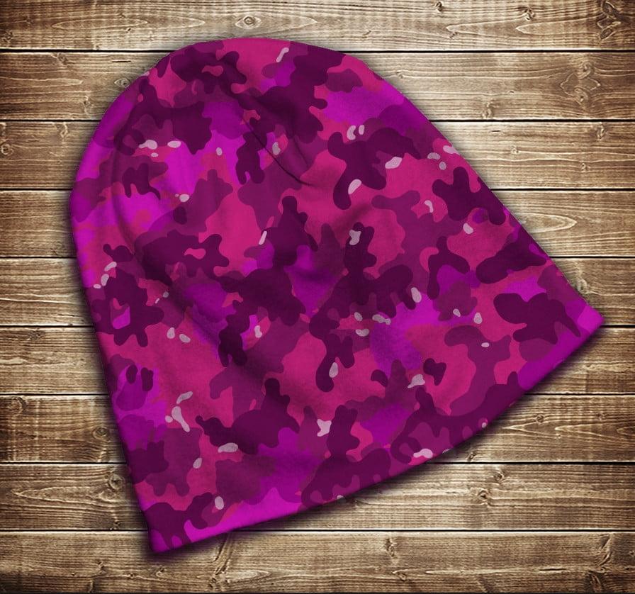 Шапка з 3D принтом -  Pink camuflage Всі розміри