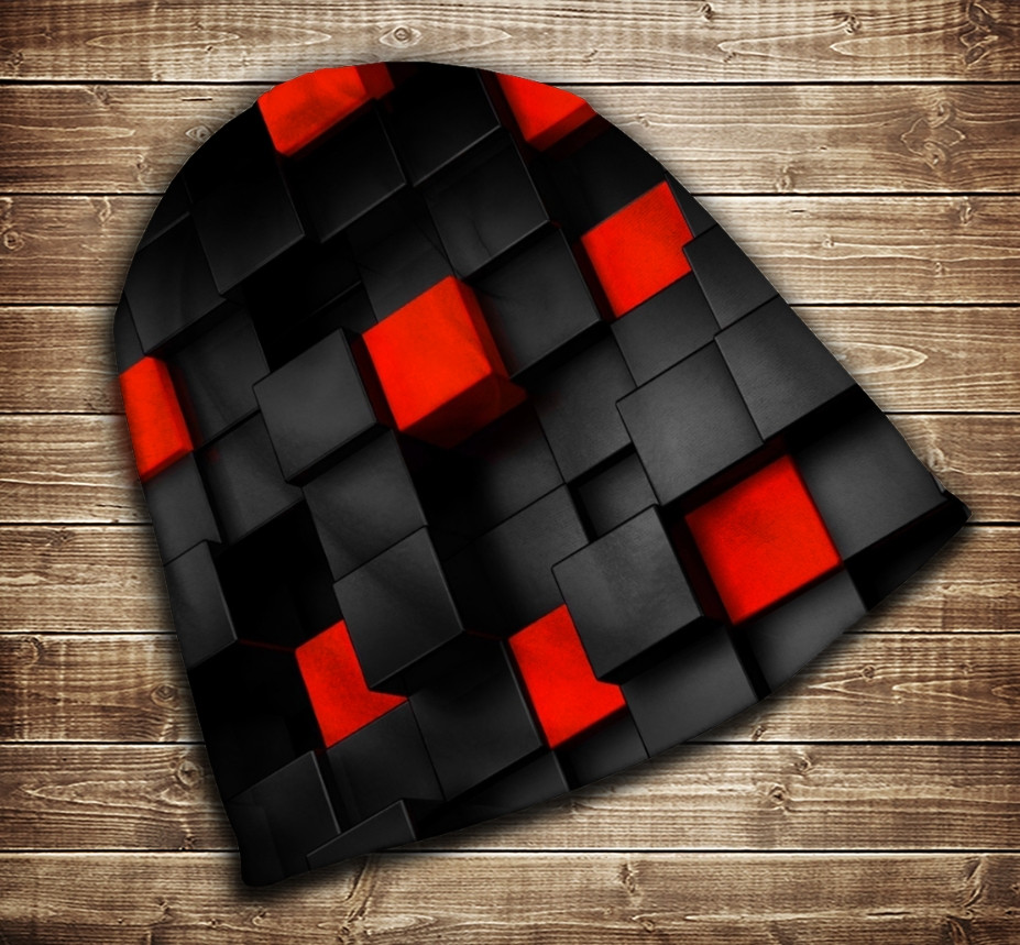 Шапка з 3D принтом -  Undegraund red cub Всі розміри
