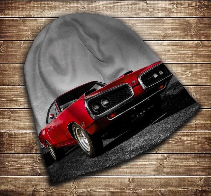 Шапка з 3D принтом -  Red Dodge автомобіль Всі розміри