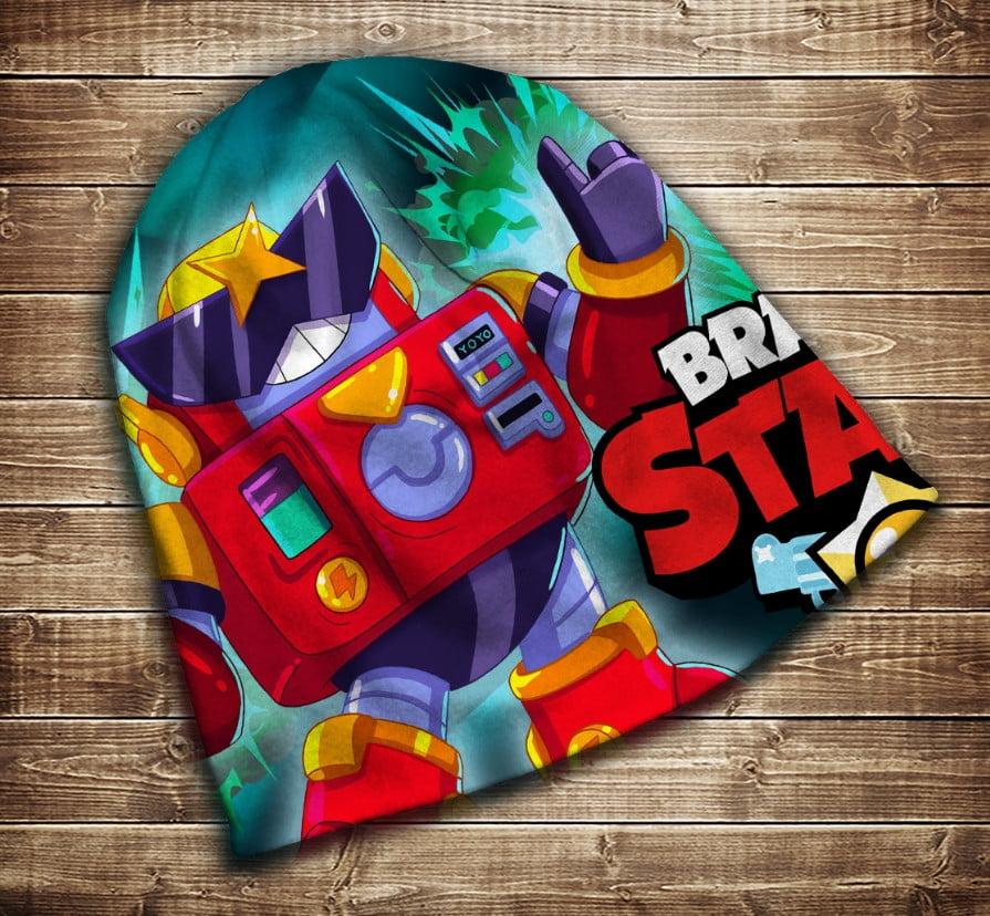 Шапка з 3D принтом -  Бравл Старс Вольт Brawl Stars Всі розміри