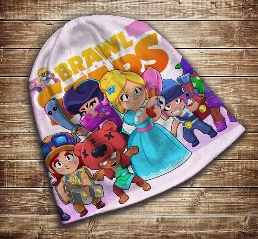 Шапка з 3D принтом -  Бравл Старс Пайпер і друзі Brawl Stars Всі розміри