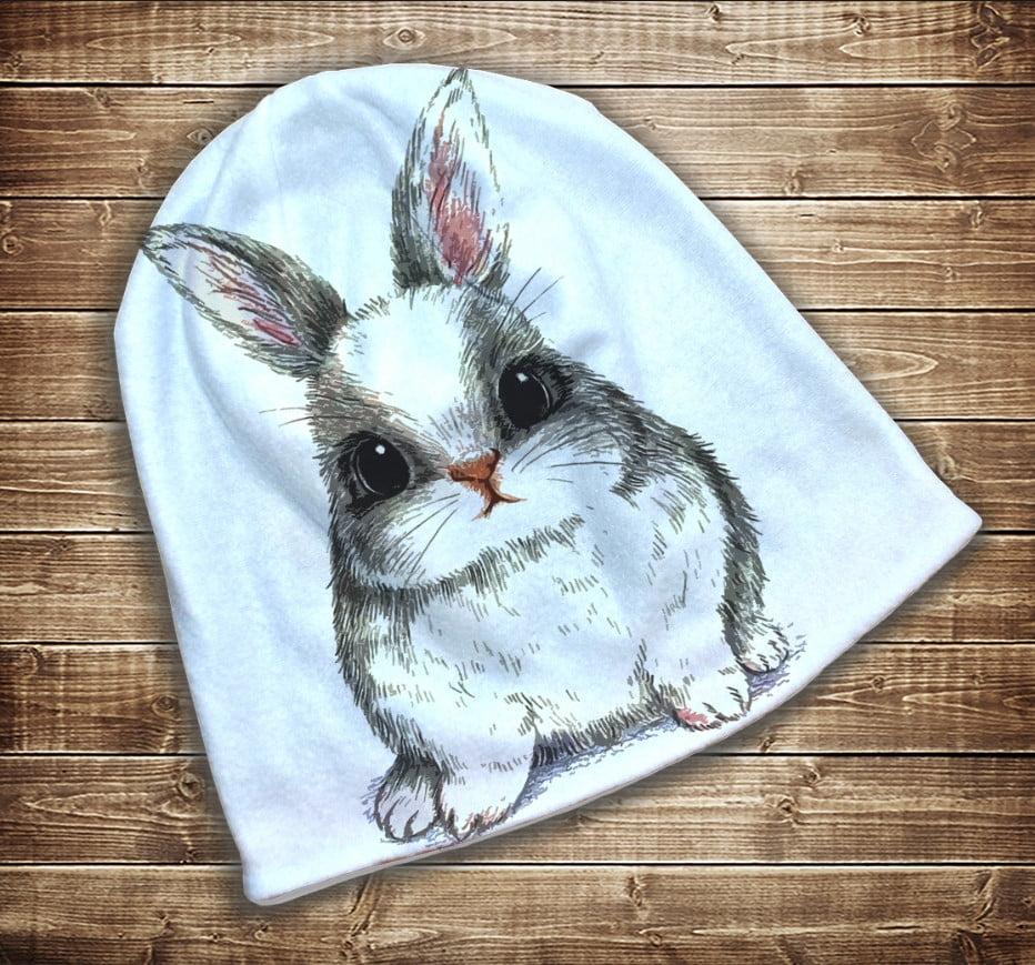 Шапка з 3D принтом -  Іди за білим кроликом Всі розміри