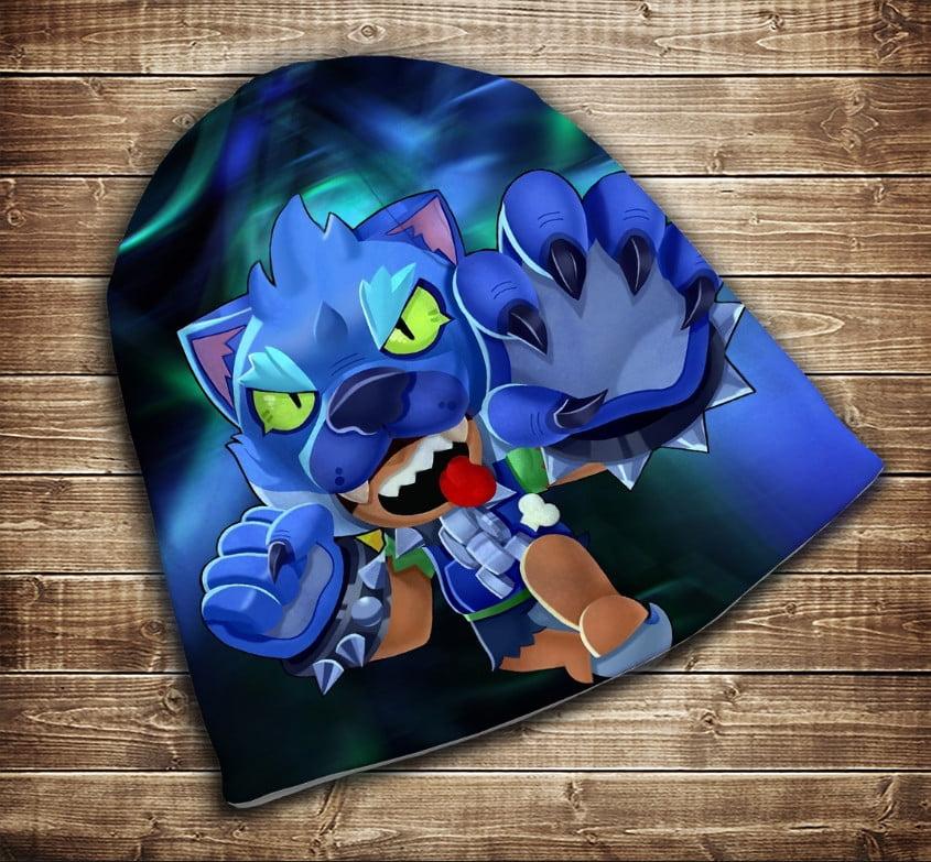 Шапка з 3D принтом -  Leon Werewolf Neon Brawl Stars Всі розміри
