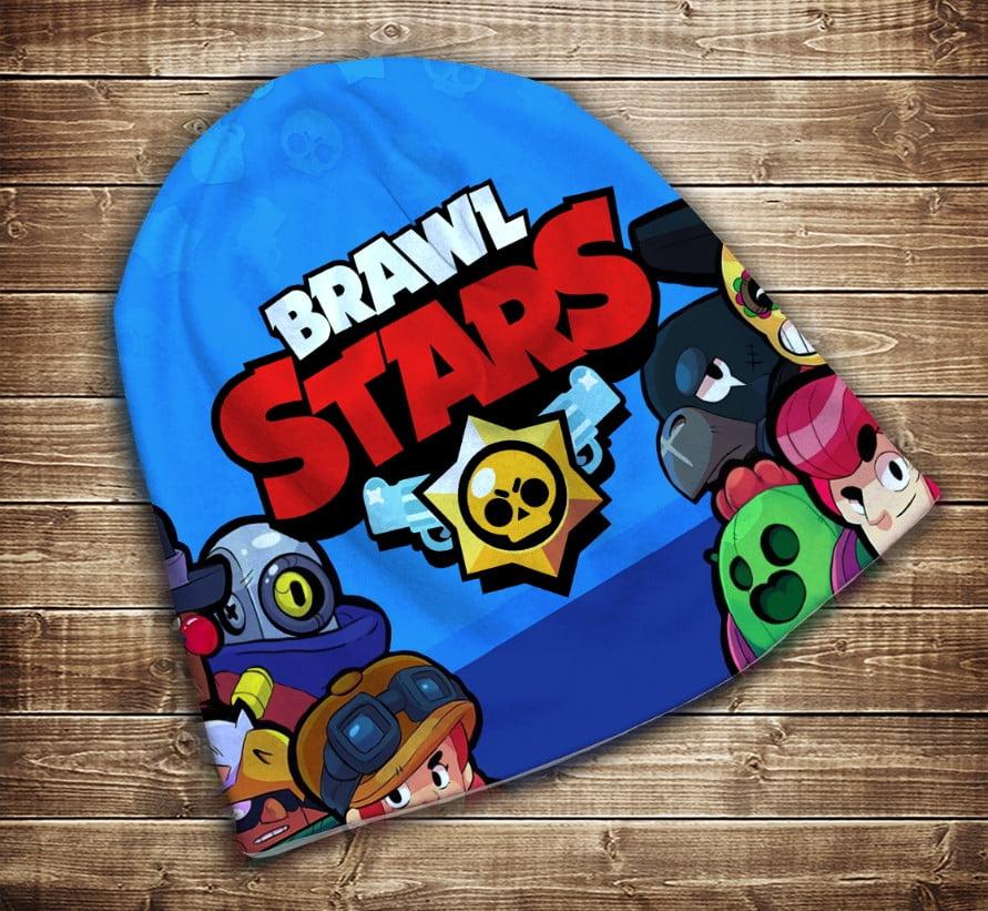 Шапка з 3D принтом -   Бравл Старс 6 Героїв Brawl Stars Всі розміри