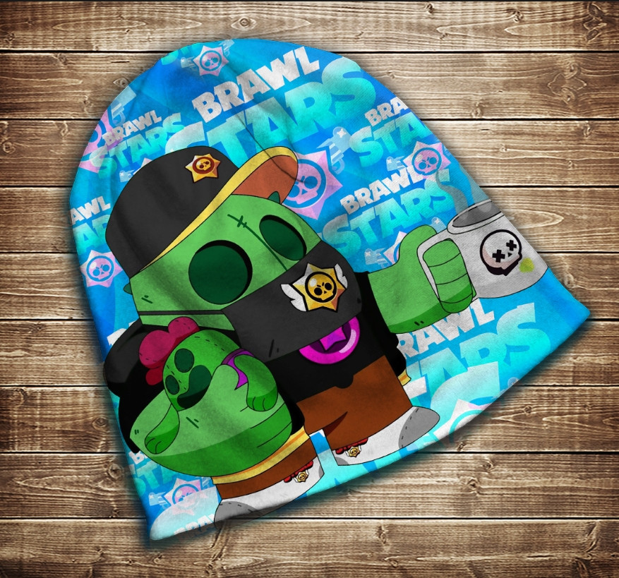 Шапка з 3D принтом -   Бравл Старс Спайк Класік Brawl Stars Всі розміри