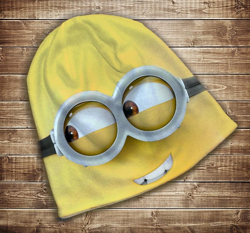 Шапка з 3D принтом - Фейс Міньона Всі розміри