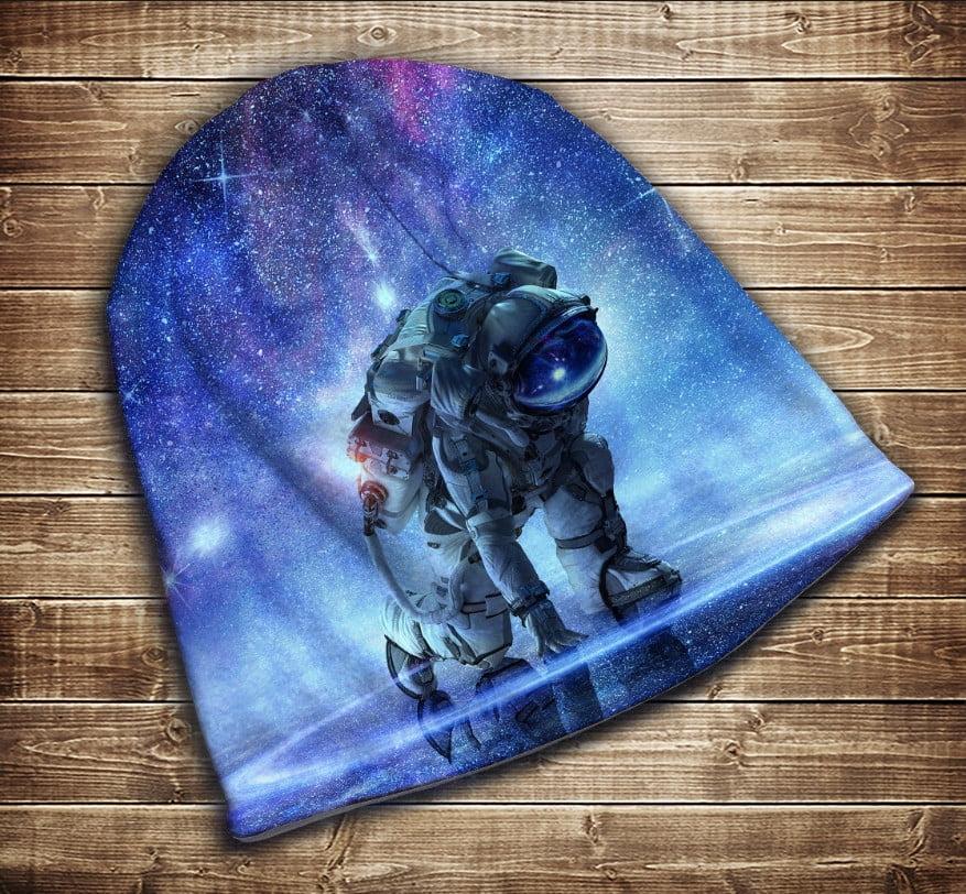 Шапка з 3D принтом - Космонавт Всі розміри