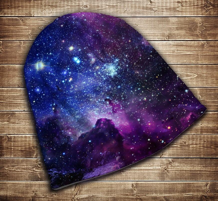 Шапка з 3D принтом - Космос 01 Всі розміри