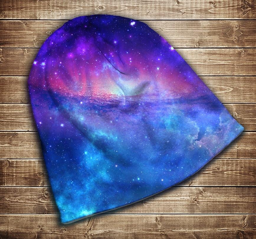 Шапка з 3D принтом - Чарівна Галактика Всі розміри
