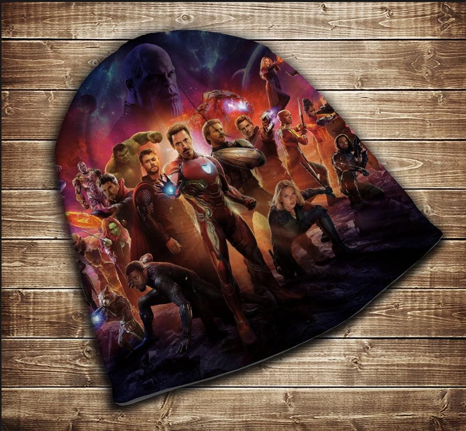 Шапка з 3D принтом - Mесники Avengers Всі розміри
