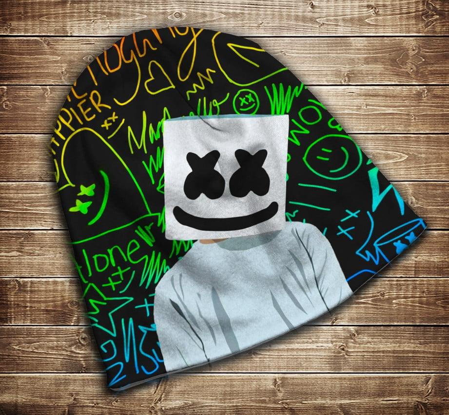 Шапка з 3D принтом - DJ Marshmello Fan Всі розміри