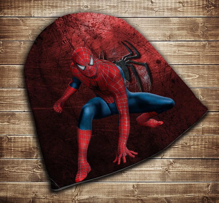 Шапка з 3D принтом - Спайдермен Red Всі розміри