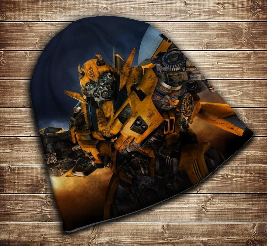 Шапка з 3D принтом - Transformers Bamblbee Всі розміри