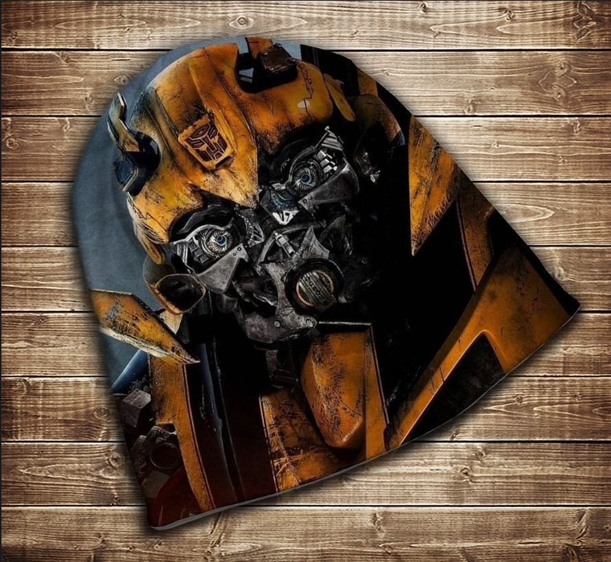 Шапка з 3D принтом - Трансформер Бамблби Face Всі розміри