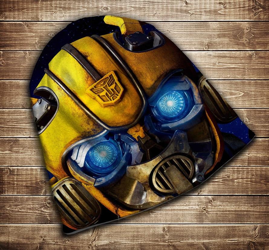 Шапка з 3D принтом - Трансформери Bumblebee Face Всі розміри