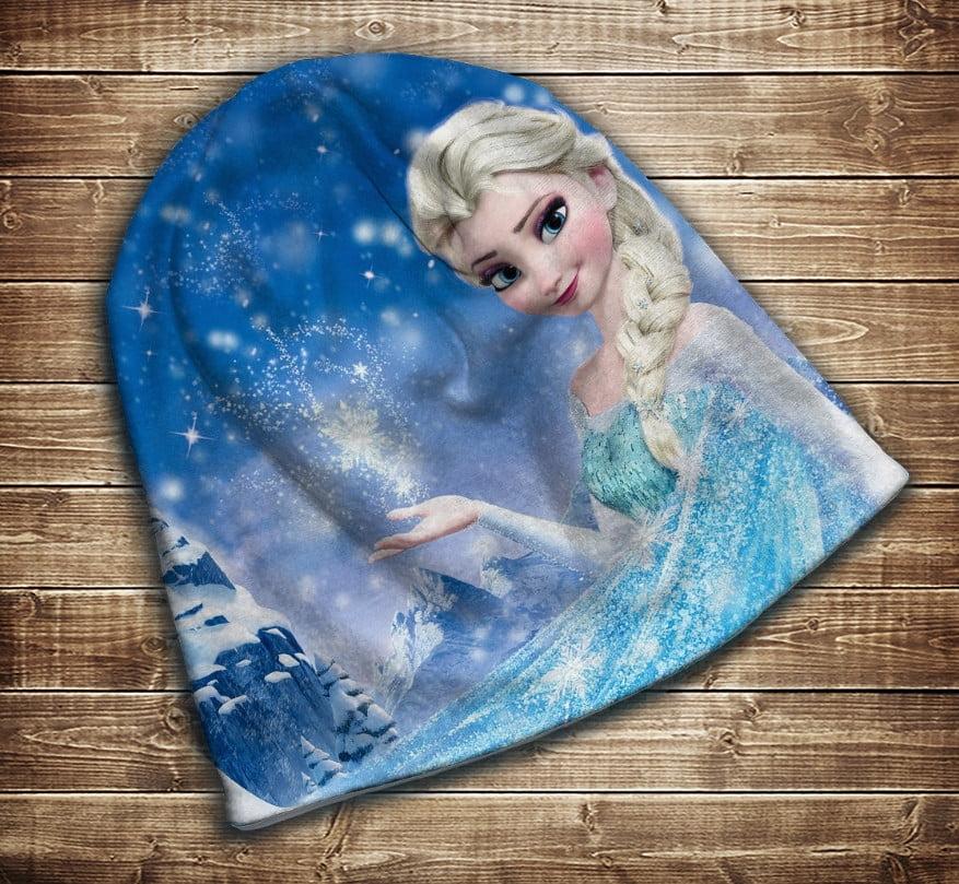Шапка з 3D принтом -  Frozen. Ельза. Всі розміри