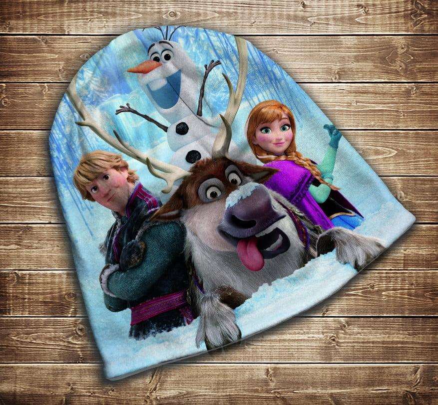 Шапка з 3D принтом -   Frozen. Анна