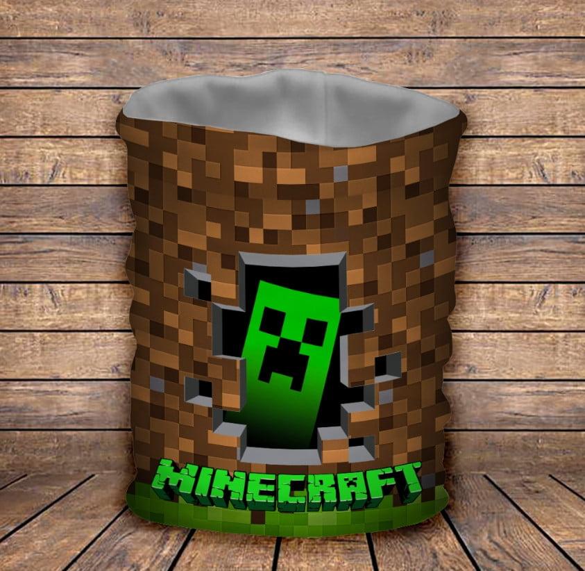 Бафф з 3D принтом Minecraft Logo
