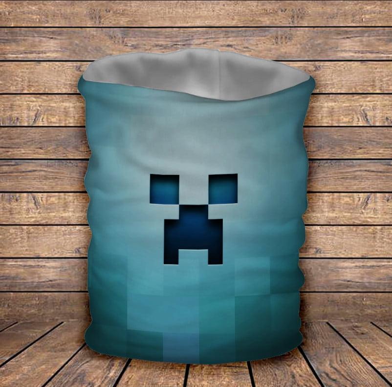 Бафф з 3D принтом Minecraft /Майнкрафт BLUE