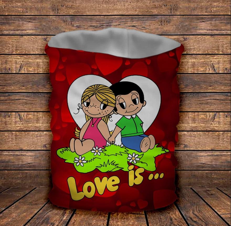 Бафф з 3D принтом Love is
