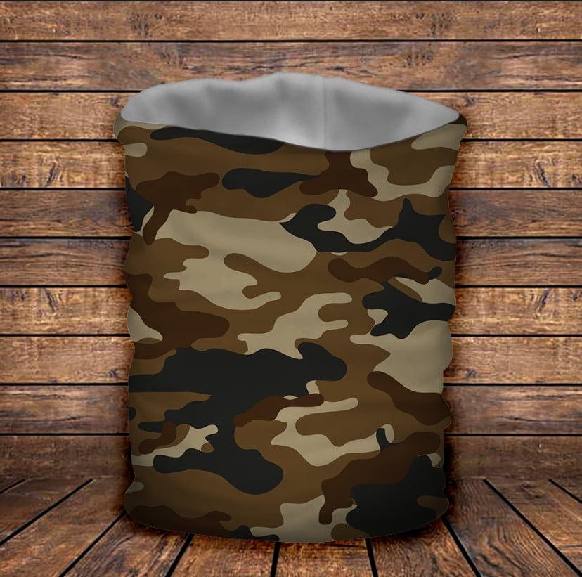 Бафф з 3D принтом Camuflage brown