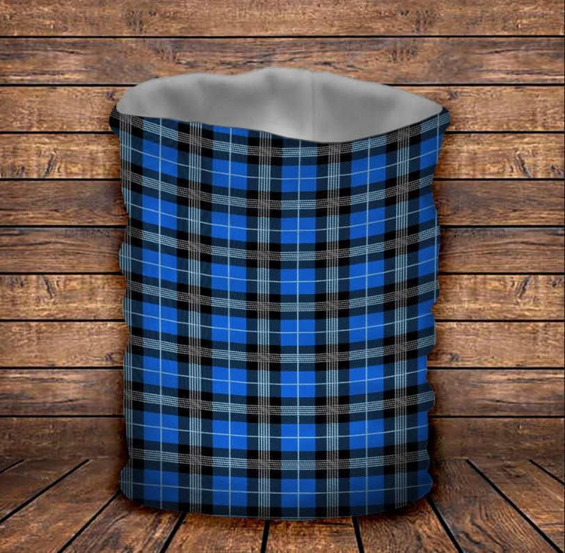 Бафф з 3D принтом  Шотландська клітинка тартан синя