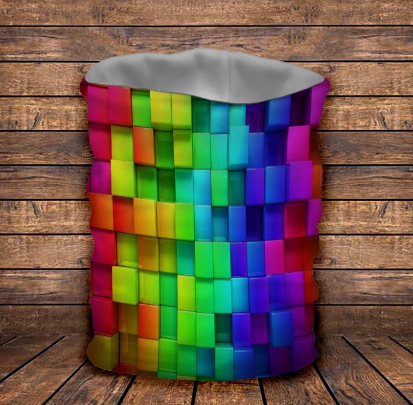 Бафф з 3D принтом   Кольорові кубики