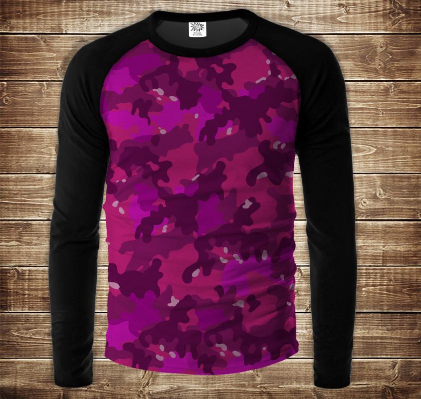 Лонгслив - реглан UNISEX з 3D принтом-  Pink camuflage