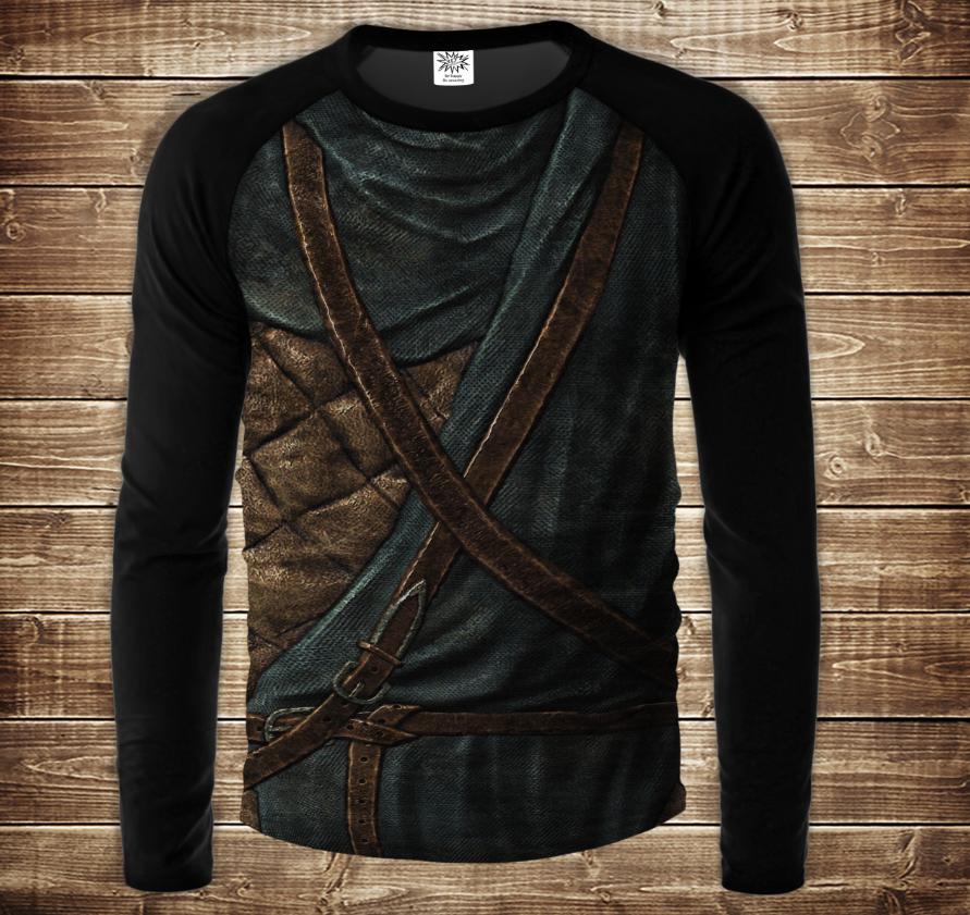 Лонгслив  - реглан UNISEX з 3D принтом-  Skyrim. Armour The Elder Scrolls