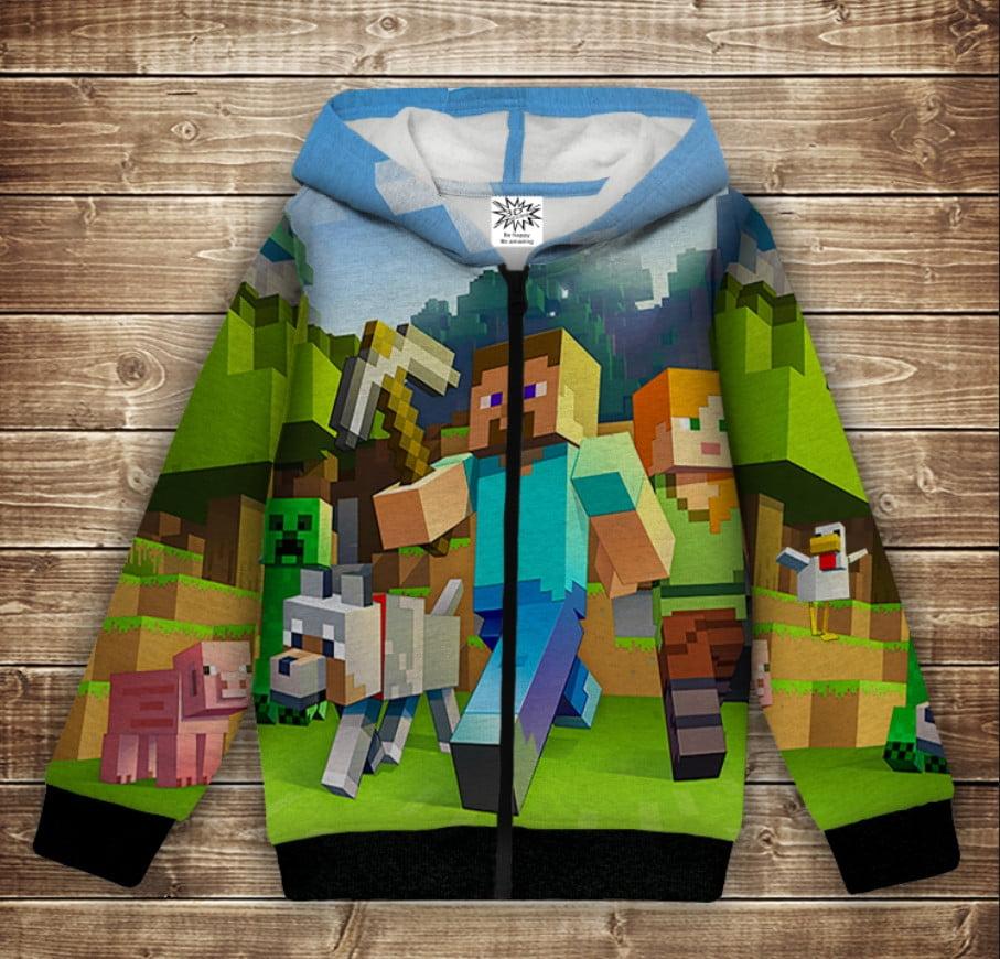 Худі з капюшоном і принтом 3D Minecraft / Майнкрафт