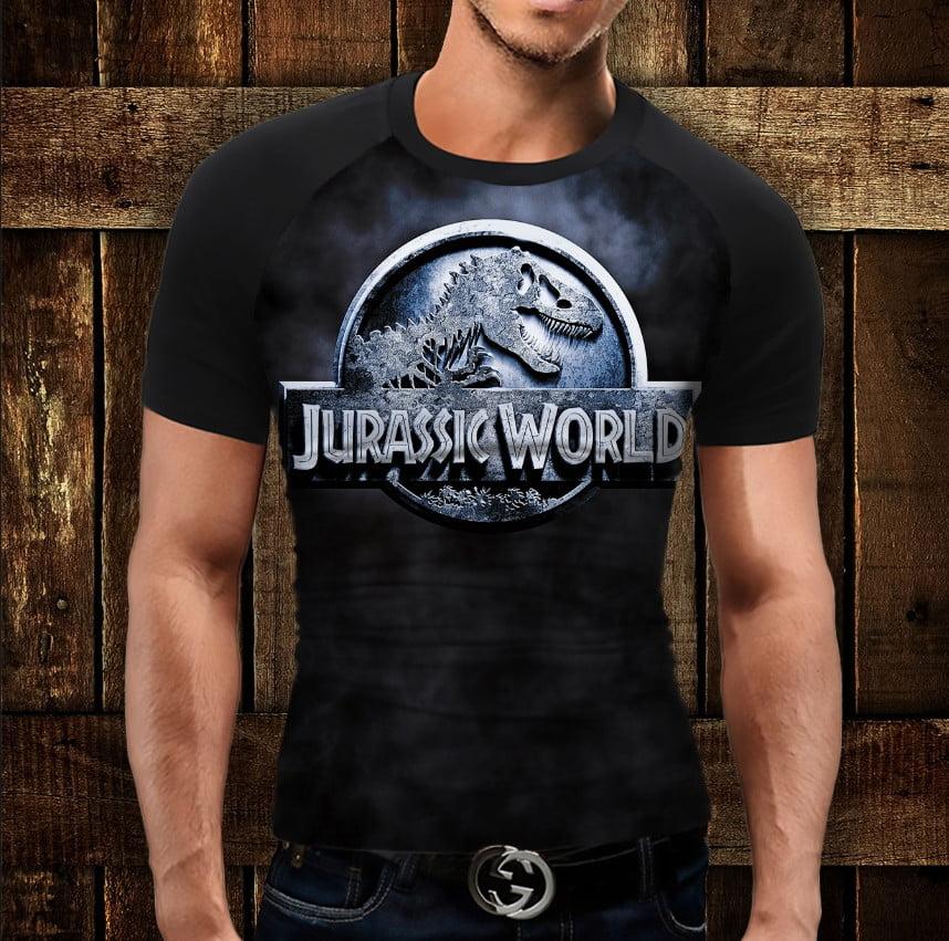Футболка - реглан з 3D принтом  Jurassic World Logo