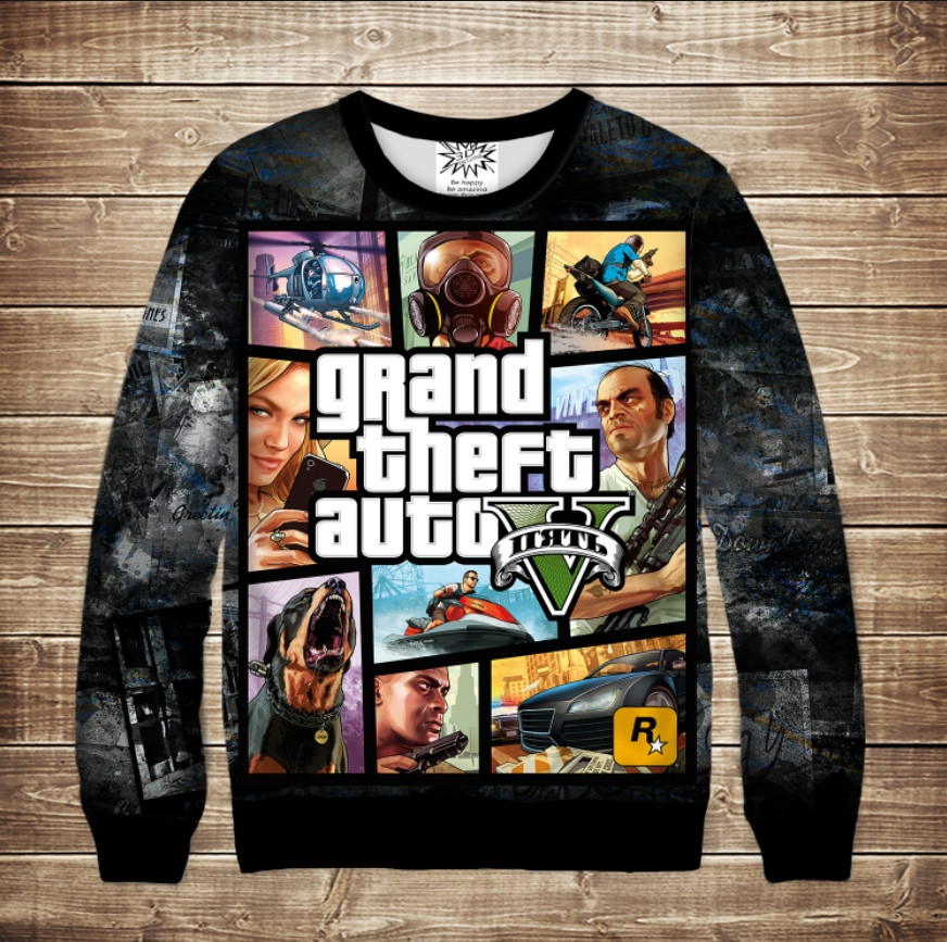 Світшот з 3D принтом Grand Theft Auto Caver