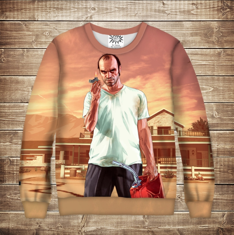 Світшот з 3D принтом Grand Theft Auto Тревор Філіпс
