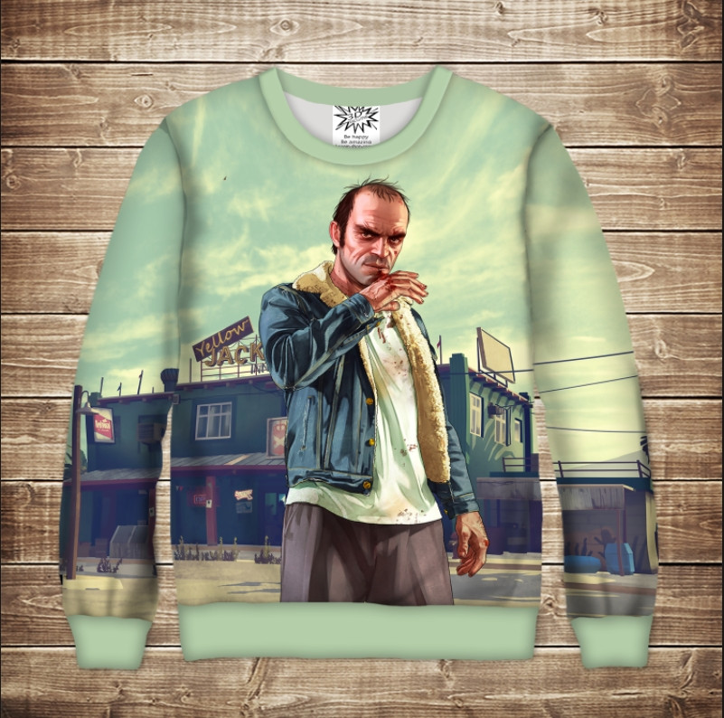Світшот з 3D принто Grand Theft Auto Тревор