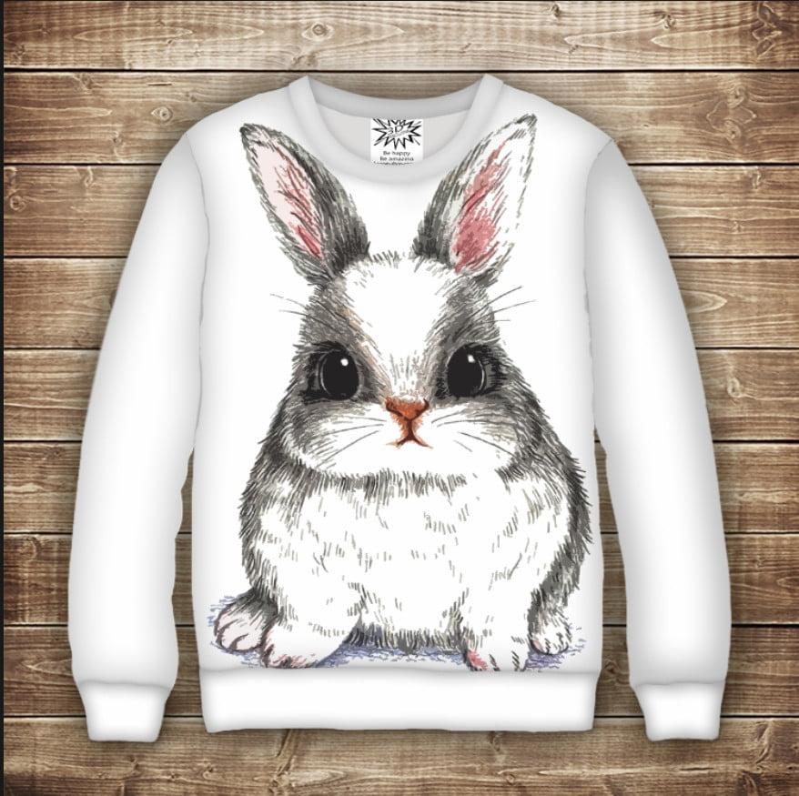 Світшот Веселий кролик / Свитшот Зайчик