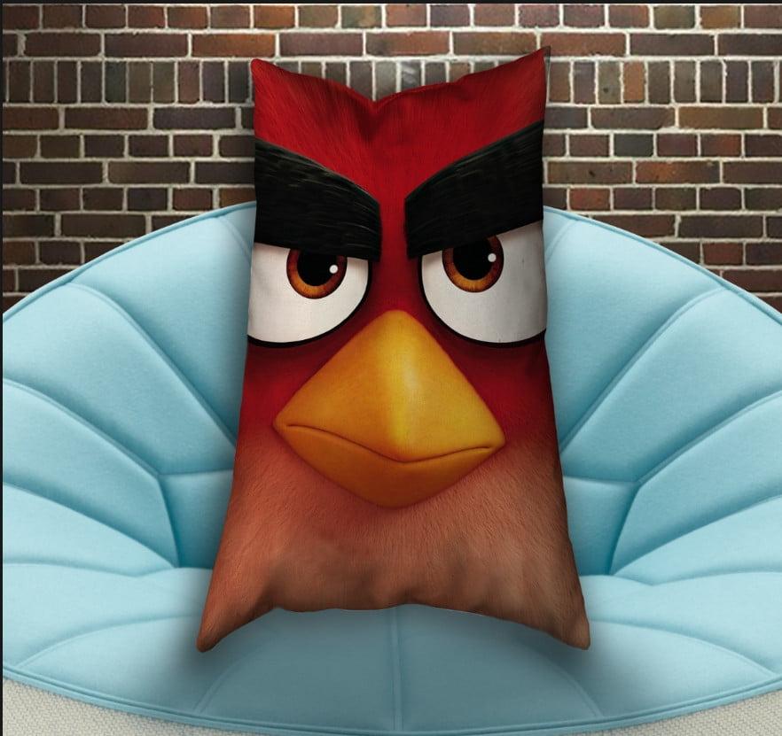 Подушка ростова вертикальна з 3D принтом Angry Birds Red