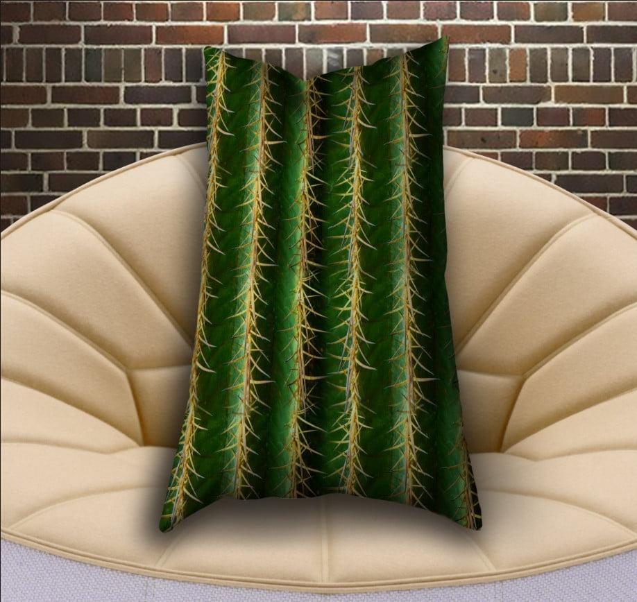 Подушка ростова вертикальна з 3D принтом  Кактус