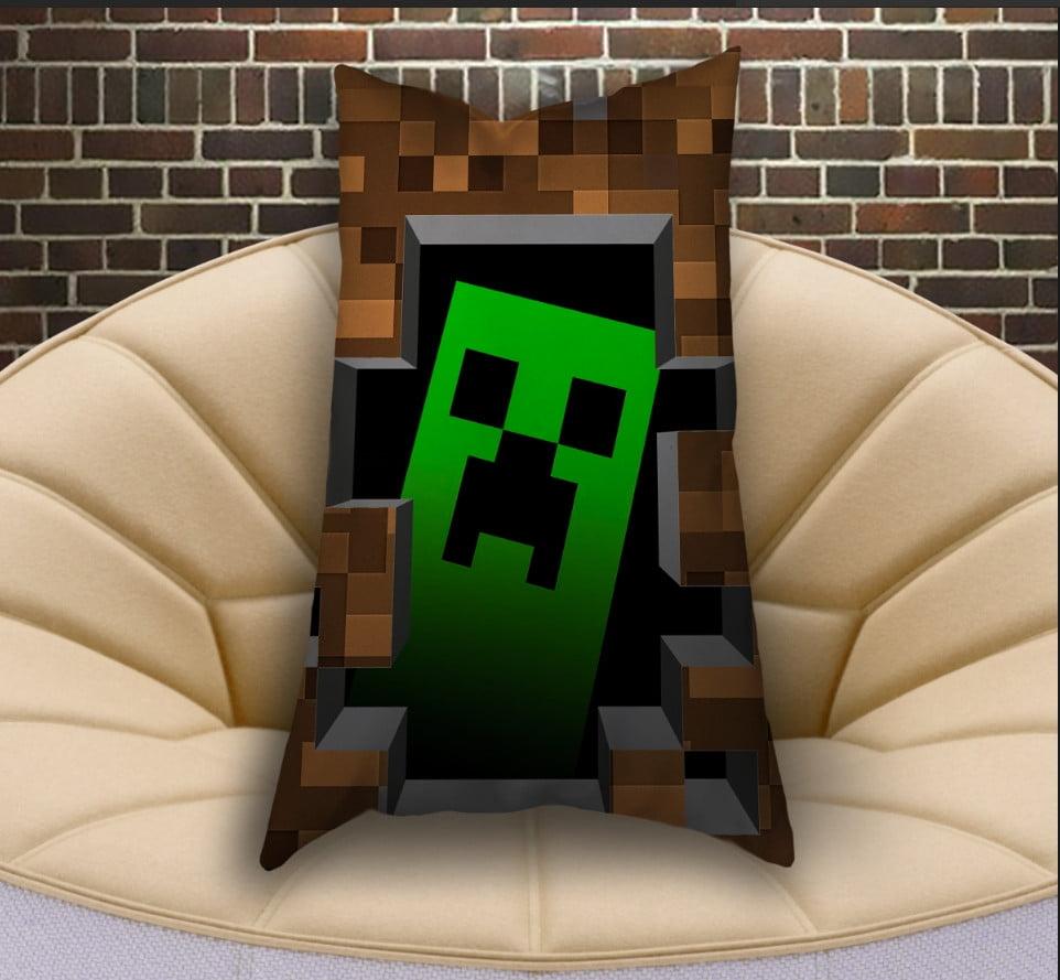 Подушка ростова вертикальна з 3D принтом  Minecraft Logo