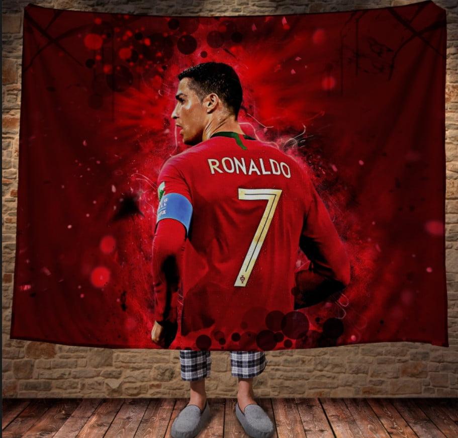 Плед з 3D принтом - Сristiano Ronaldo Red