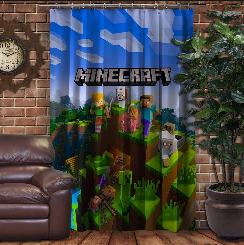 Штори 3D з принтом- Minecraft