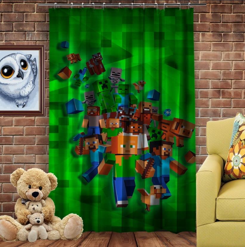 Штори 3D з принтом- Minecraft Game