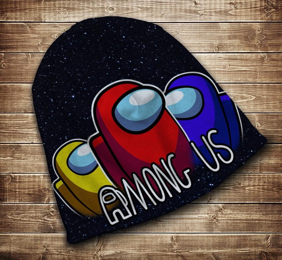 Шапка з 3D принтом - Among Us Space
