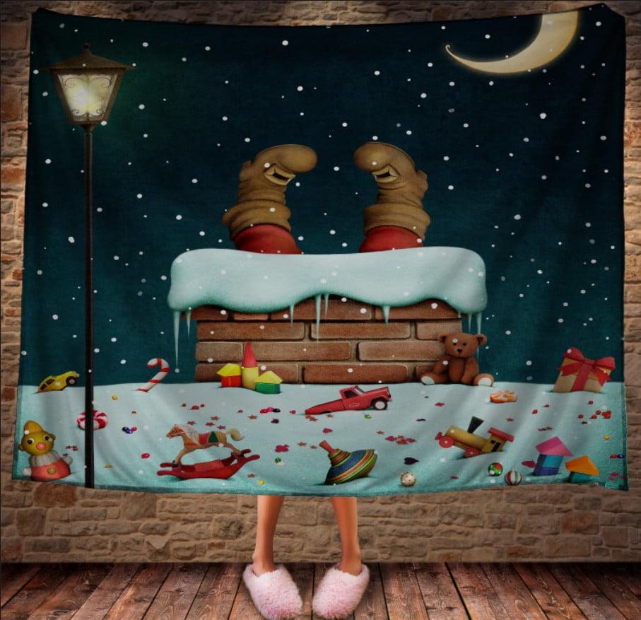 Плед з 3D принтом Санта на підході. Дивосвіт.
