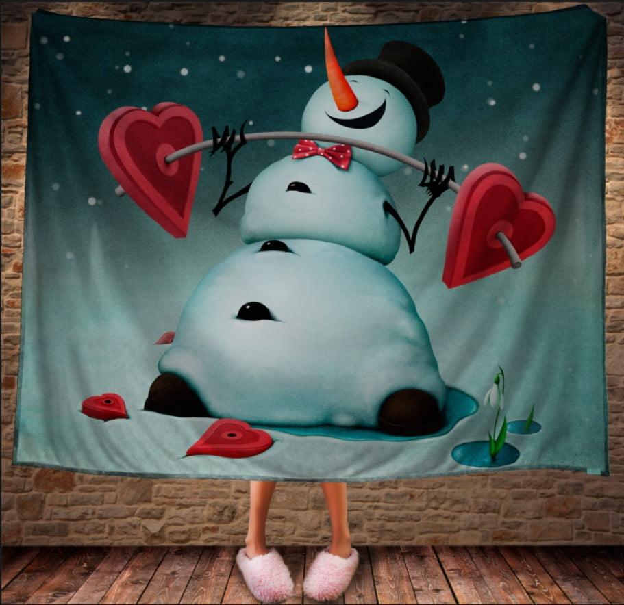 Плед з 3D принтом Сніговик. Сила в любові. Дивосвіт.