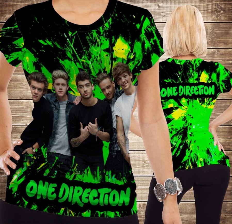 Футболка з принтом One Direction Neon